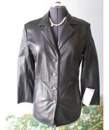 Juliet Michelle Black Long Sleeve Women Leahter Coat Jacket SZ M NWT - $168.29