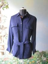 Evan Picone Women's Long Sleeve 100% Silk Safar... - $44.54