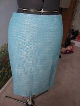 Talbots Petite Blue & White  Women Straight Skirt  SZ 10P NWT - $34.64