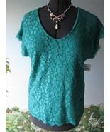 Diane von Furstenberg Green Lace Top Blouse SZ M NWT - $79.19