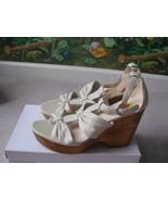 Coach Women's Nola Wedge Leather Sandals Shoes Size 10M NEW $188 - $117.81