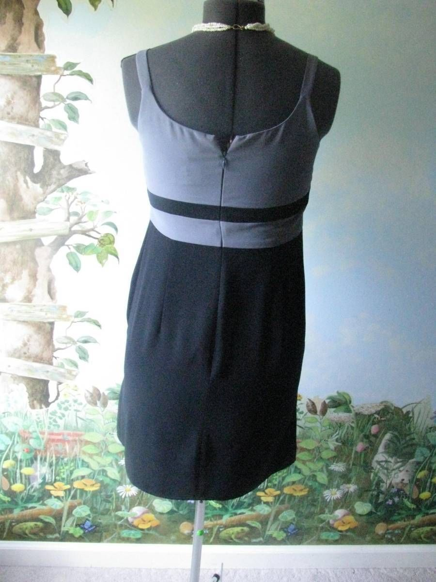 Ann Taylor Loft Women' Gray and black dress size 6 NWT