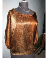 2B Rych Gorgeous Batwing Sleeve Brown Silk Evening Top Size S NWT - $89.09
