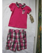 Company 81 Girls 2 Piec Outfit Pink T-shirt & Plaid Short Size 4T NWT - $22.76