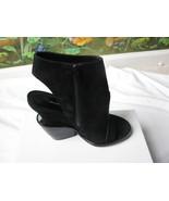 Theyskens' Theory Black Suede Elerie Aova Tiered-heel Shoes SZ 6 New Italy - $237.59