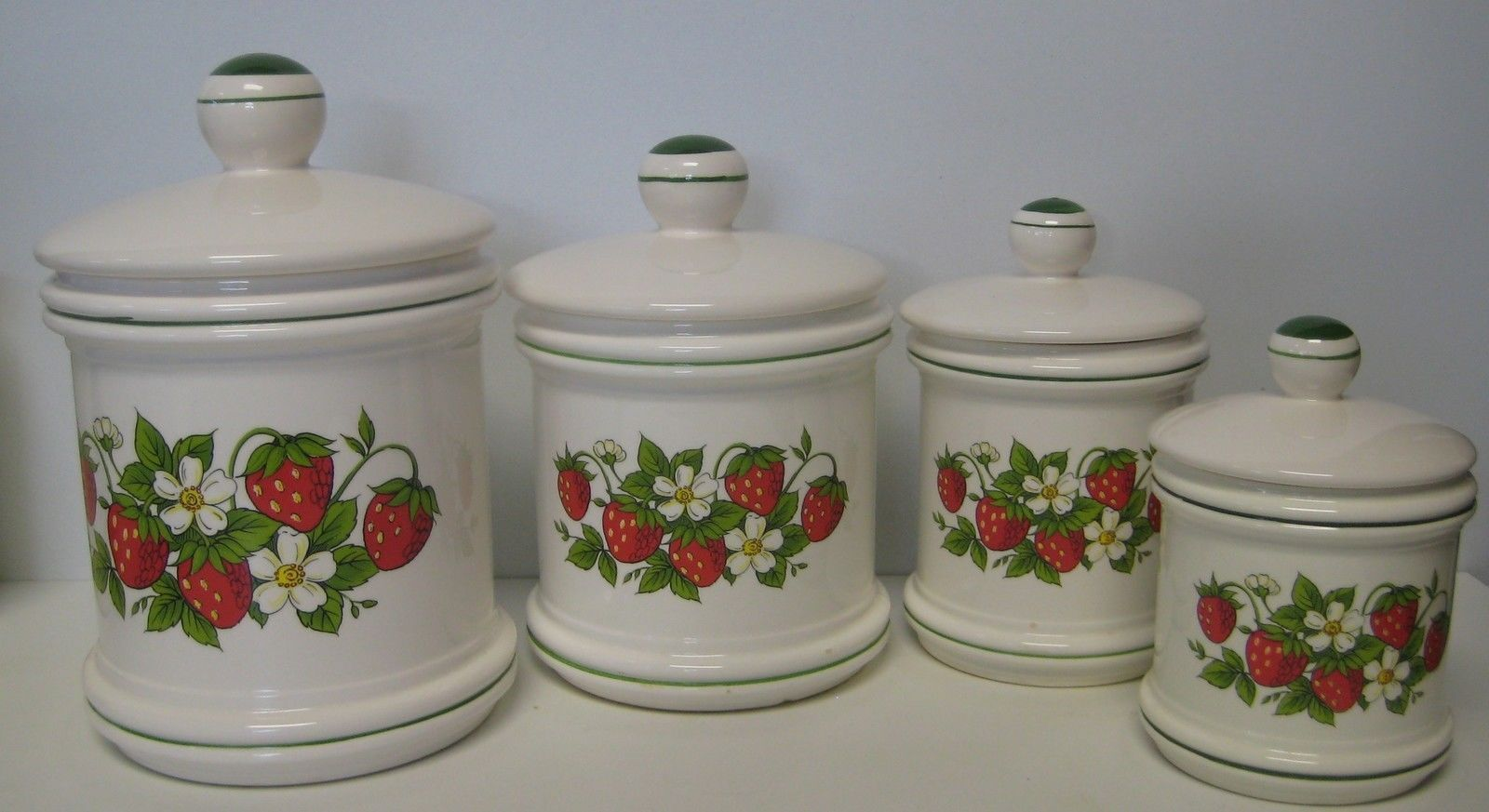 country canister sets for kitchen sears strawberry country kitchen canister set 4 total made 23359