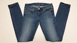 American Eagle Womens Distressed Stretch Denim Skinny Blue Jeans size 4 ... - $31.14