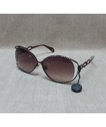 GL806 Jimmy Crystal Sunglasses with Mocca & Light Colorado Topaz Crystals - $149.99