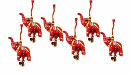 Elephant Bell Decorative Hanging Layer Set of 6 (RED)  - $10.85