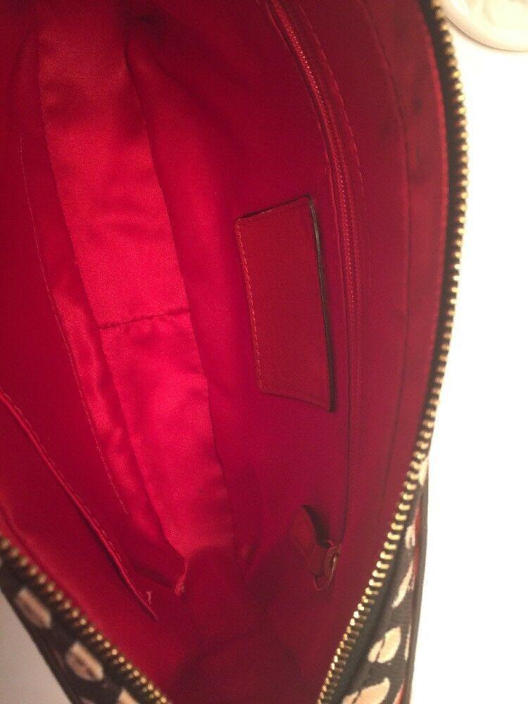 Coach Crossbody Bag Floral Scarf Flight 25121 Desert Sky Red Neutral image 8