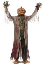 Lifesize 7ft Animated Pumpkin King Halloween Prop See VIDEO - €173,41 EUR