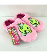 Shopkins Toddler Girls Slippers Faux Fur Apple Blossom Slip On Pink Size... - $14.50