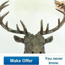 Signed Carl Kauba Life Size Elk Head Bust Bronz... - $719.00
