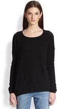 NWT Vince Women Cashmere Perforated Boatneck Sweater Black SZ S $295 - $69.28