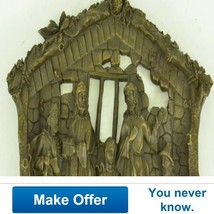 Religious Wall Hanging Plaque Of Birth Of Jesus... - $250.00