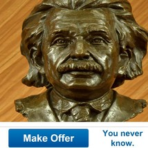 Limited Edition Intellectual Bronze Albert Eins... - $600.00