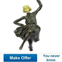 Hot Cast Bronze Sculpture Of A Tambourine Dance... - $300.00