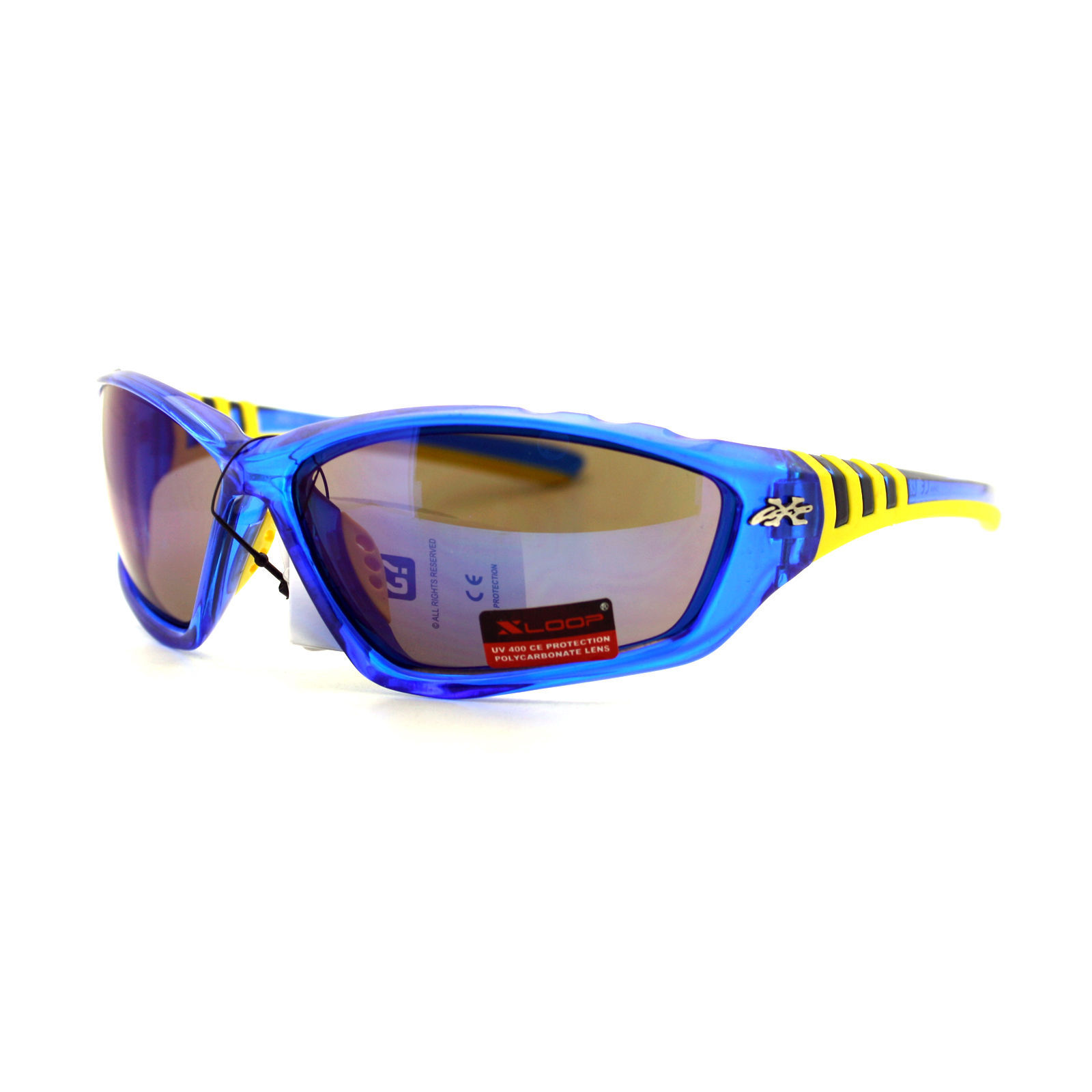 Xloop Sports Sunglasses Oval Wrap Around Unisex Frame Rubber Nose