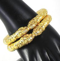 South Indian Fashion Jewelry Beautiful Gold Plated Bracelets Bangles bal... - $25.00