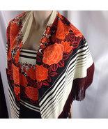 1970s Alfred Shaheen Spaghetti Strap Maxi Dress & Fringed Shawl Black Or... - $275.00