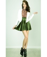 green velvet skater skirt size S extra small xs... - $24.99