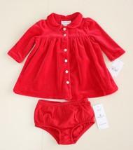 Ralph Lauren Girl's Dress Sz 3 M Red Velour Classic Holiday NWT - $26.70