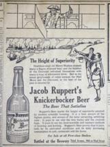 1909 Jacob Ruppert Knickerbocker Beer Newspaper Ad - Vintage Airplane - $9.99