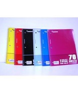 Wire Notebook- 70 sheets One Subject, Wide Ruled School Supplies Case Pa... - $60.20