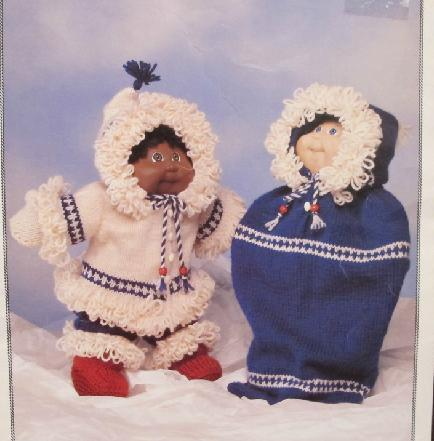 Primary image for CABBAGE PATCH DOLL Clothing Clothes Knitting Patterns PARKA OUTFIT BUNTING BAG