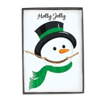 Beaded Necklace on Snowman card - $7.99
