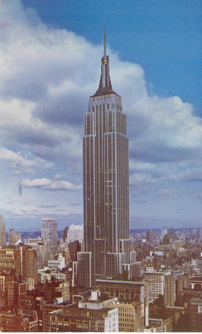 Empire State Building, New York City, 1950s unused Postcard