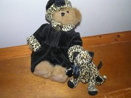 Boyds Bear Small Plush w Black Velvet Animal Print & Small Leopard Cat S... - $18.49