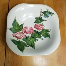 Red Wing Pottery Morning Glory Pink Fruit Dessert Bowl 1940's MCM - $6.92