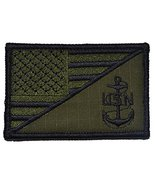 USA Flag / U.S. Navy Anchor 2.25x3.5 Military Patch / Morale Patch - Mul... - $6.85