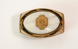 Vintage Gloray Metal & Shell Belt Buckle - $17.81