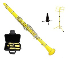 Merano BB Yellow Clarinet with Carrying Case , Yellow Music Stand,Clarin... - $103.99