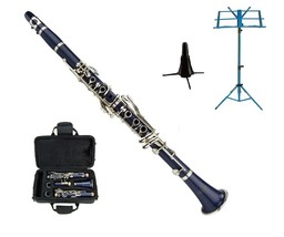 Merano BB Blue Clarinet with Carrying Case , Blue Music Stand, Clarinet ... - $103.99