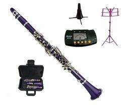 Merano BB Purple Clarinet,Case , Purple Music Stand, Clarinet Stand, Met... - $109.99