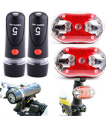 2XBicycle Bike 5 LED Front Head Torch Light 9 LED Back Rear Tail Flashli... - $6.94