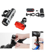 2XWaterproof 5 LED Lamp Bike Bicycle Front Head Light+Rear Safety Flashl... - $6.96