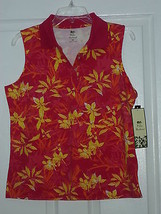 Palm Harbour Knit Shirt Size M Stretch  Red Orange Yellow Nwt - $15.99