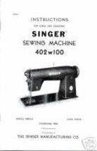 Vintage Singer 402w100 Sewing Machine Adjuster Manual M - $10.99