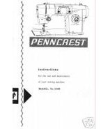 JCPenney Penncrest 3000 Sewing Machine Owner Manual M - $10.99