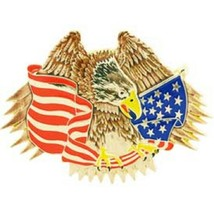 United States American Eagle & Flag Belt Buckle - $18.80