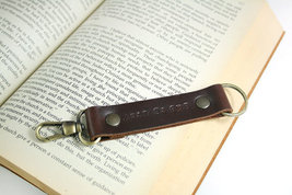 Engraved Keychain, Personalized Leather Keychain - $15.99