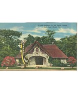 Entrance to the Parrot Jungle, Red Road, Miami, Florida, unused linen Po... - $5.99