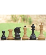 Reproduction 1950 Dubrovnik Bobby Fischer Chess Set in Ebony Wood/Box Wo... - $281.99
