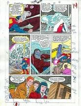 Original 1985 Superman 409 page 14 DC Comics color guide art colorist's ... - $59.39