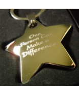 Positive Promotion Key Chain One Person Can Make A Difference Metal Star Boxed - €7,37 EUR
