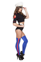 Sexy Roma Navy Yard Mistress Halloween Costume W/WO STOCKINGS HAT S M L ... - $70.00+